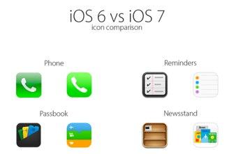Icon comparison_ iOS 6 vs iOS 7