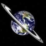 Cómo se vería la Tierra si tuviese anillos como Saturno