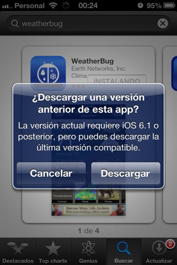 descargar app version compatible