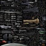 Imagen comparativa del tamaño de las naves espaciales más conocidas de ciencia ficción