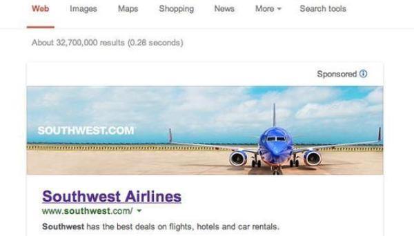 Banners de publicidad en los resultados de Google