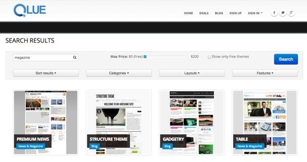 Qlue: Completo buscador de temas para Wordpress