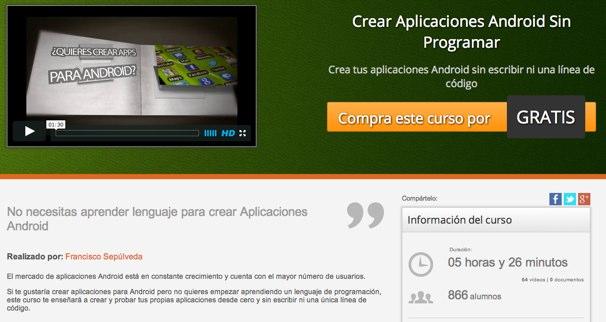 Curso gratis para aprender a programar aplicaciones Android con App Inventor