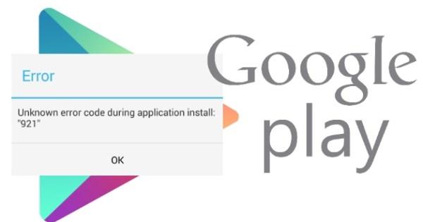 Errores de la tienda de Google Play