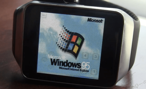 Windows 95 en smartwatch