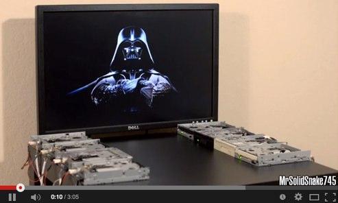 star wars en 8 disqueteras