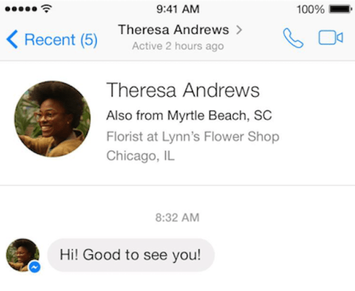 facebook messenger nueva funcion