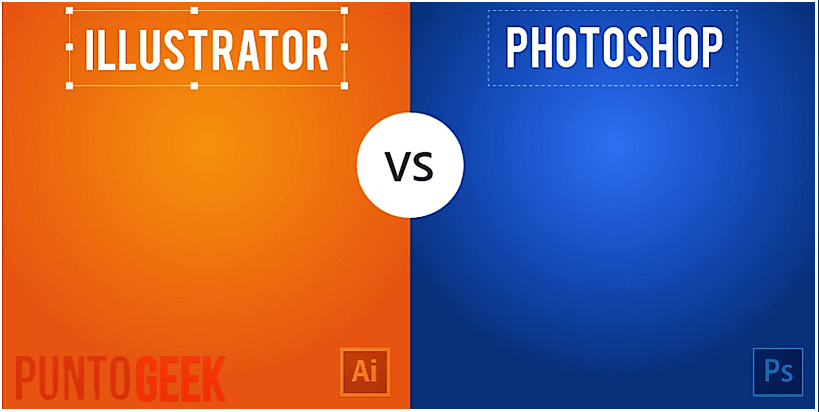 diferencia entre photoshop e illustrator