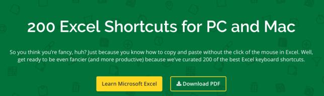 Atajos de teclado para Microsoft Excel