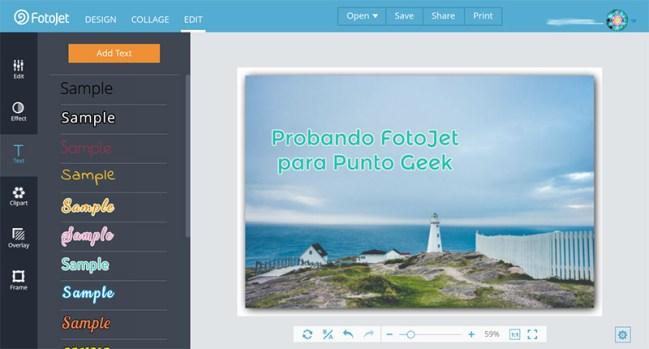 Editor de fotos FotoJet