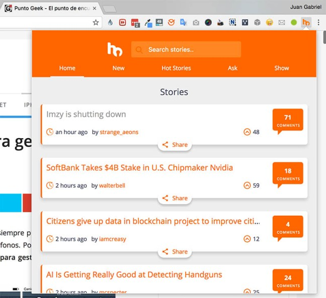 Hacker News Browser