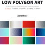 La mejor colección de fondos de pantalla con diseño de polígonos en todos los colores