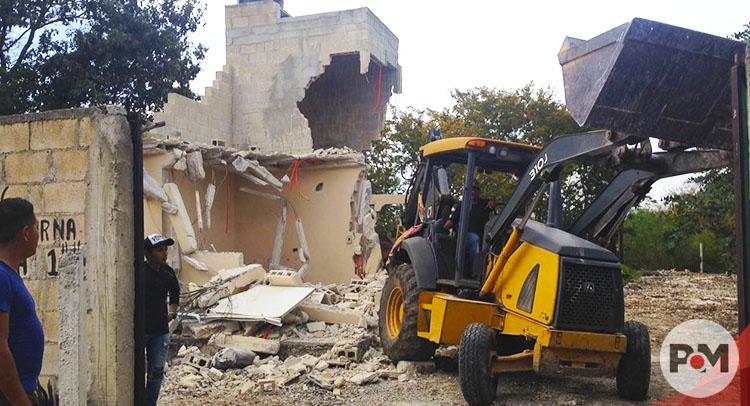 Denuncian destrucción de viviendas al norte de la ciudad