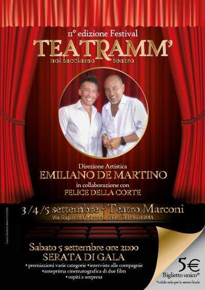 Concorso teatrale TEATRAMM' - 2° EDIZIONE al TEATRO MARCONI