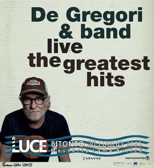 Francesco De Gregori in concerto stasera al Luce Music festival alla Masseria Lama Balice di Bitonto