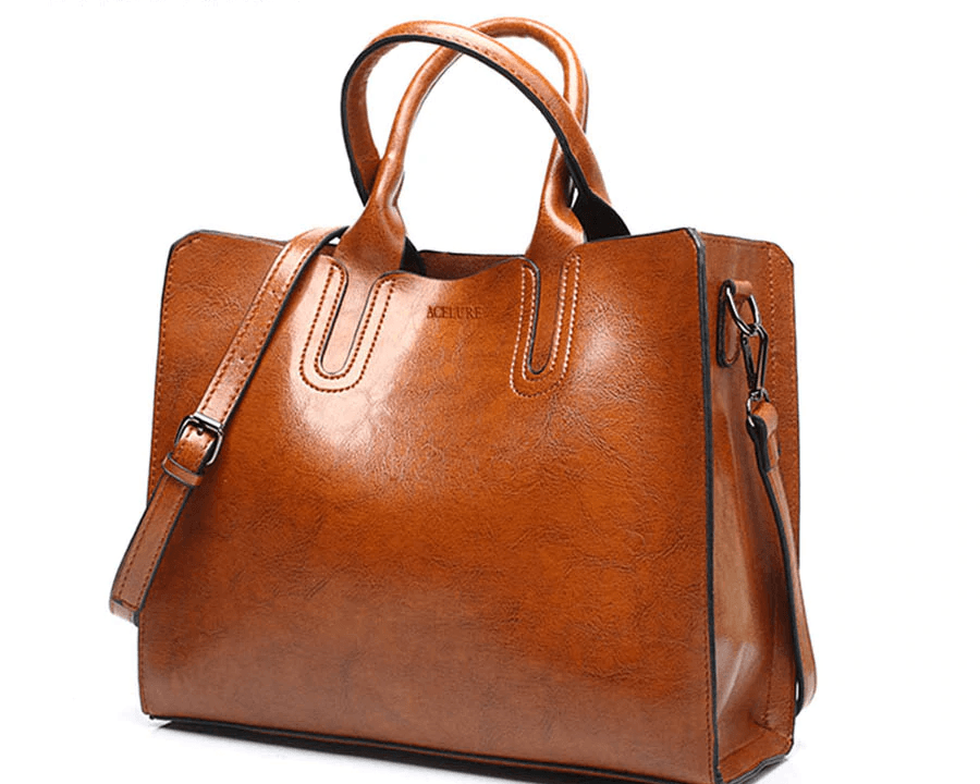 Women's Pure Tote Leather Handbag By Acelure