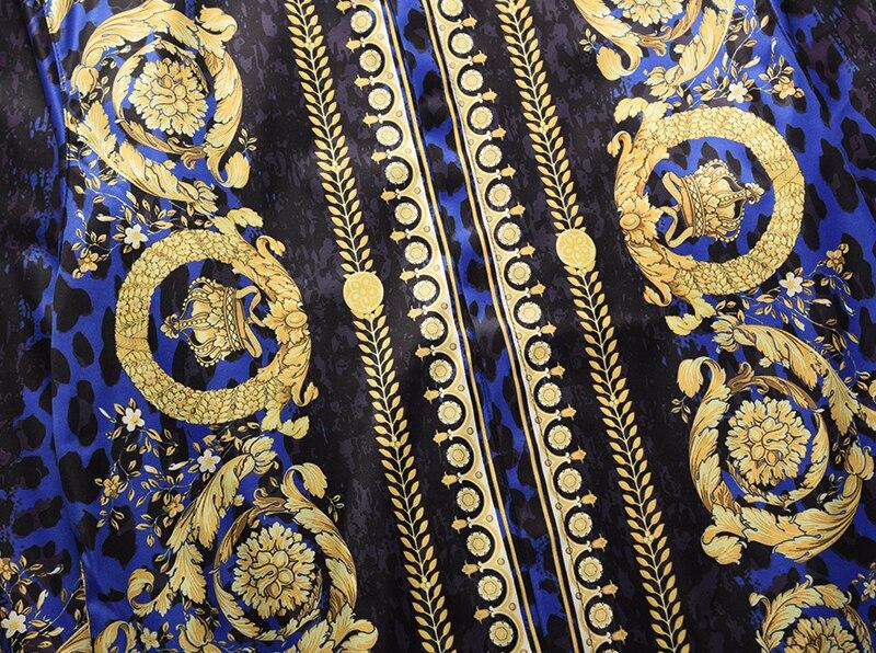 Royles! Men's Leopard styled Floral Long Sleeve Shirt 7