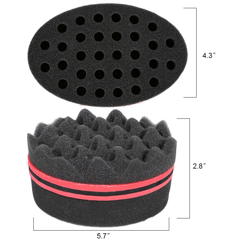 Curly Hair Styling Sponge Brush Dreads Lock Foam 3