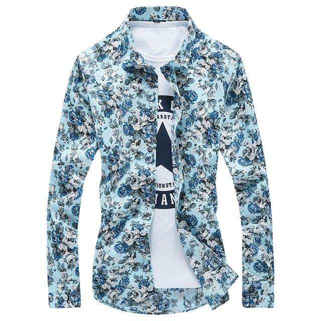 Royles! Men's Standard-Fit Long-Sleeve Printed Shirt 2
