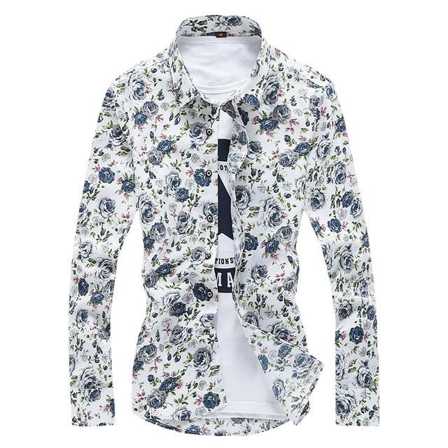 Royles! Men's Standard-Fit Long-Sleeve Printed Shirt 3