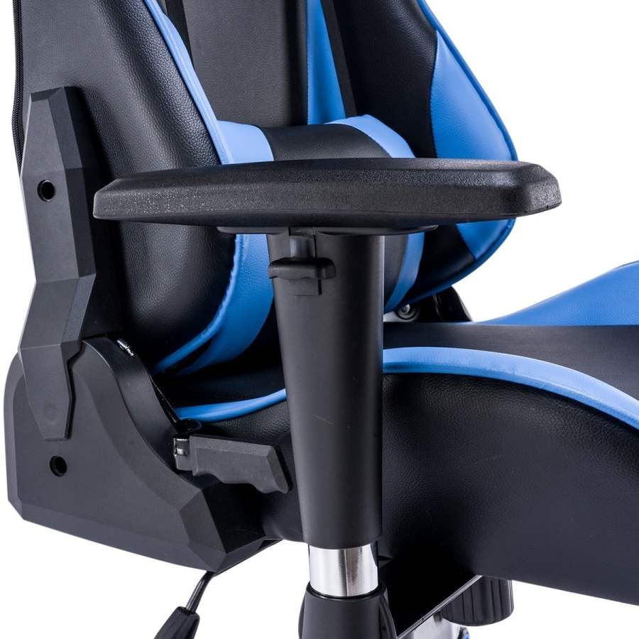 High Back Racing themed Reclining Ergonomic Adjustable Chair with Headrest 30