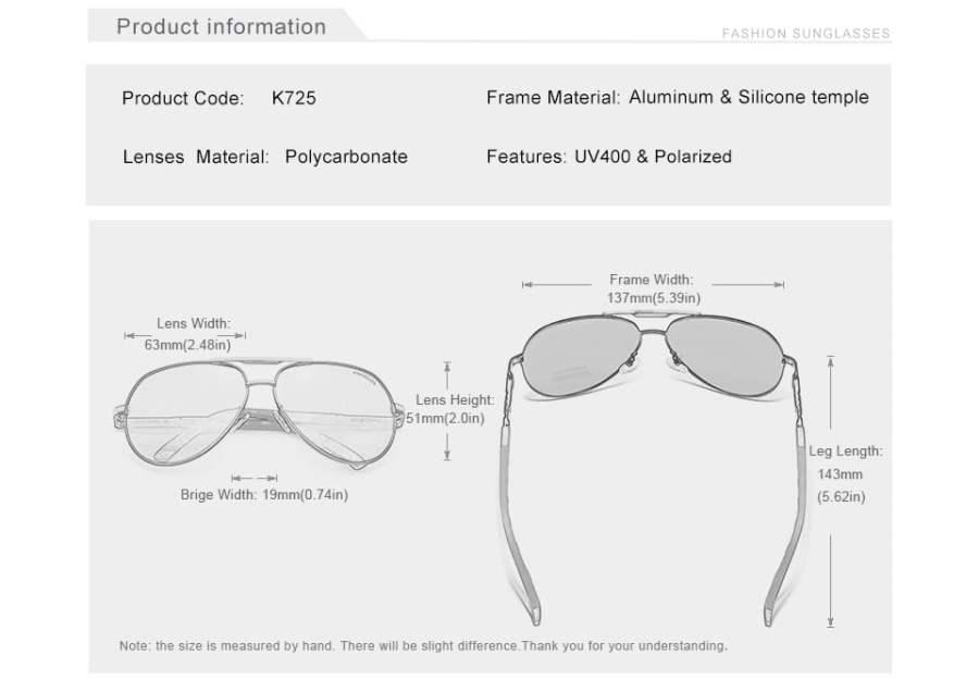 Aluminum Polarized Sunglasses Eyeglasses 19
