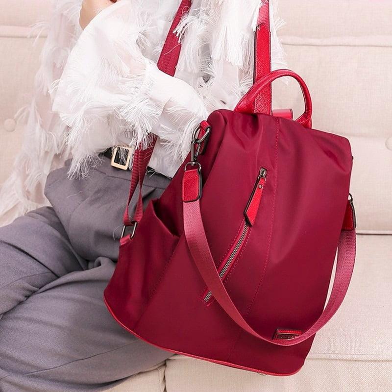 Women Anti-Theft Waterproof Fabric Backpack 2