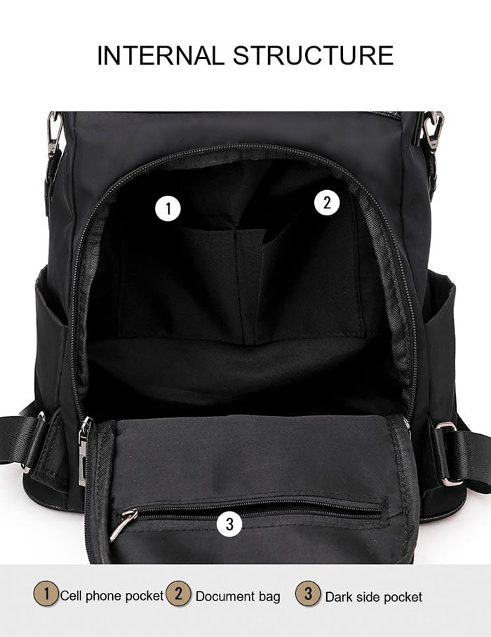 Women Anti-Theft Waterproof Fabric Backpack 4