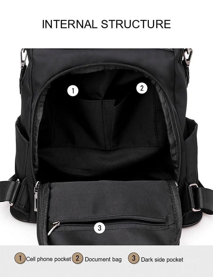 Women Anti-Theft Waterproof Fabric Backpack 4