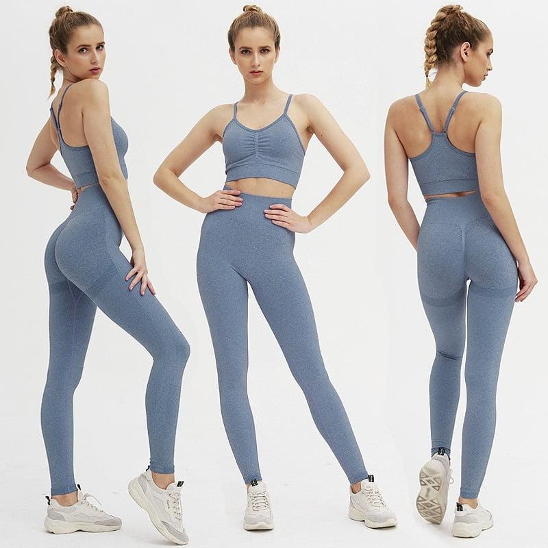 Royles! Women 2 Piece Workout Outfits Sports Bra Seamless Leggings Yoga Gym Activewear Set 19