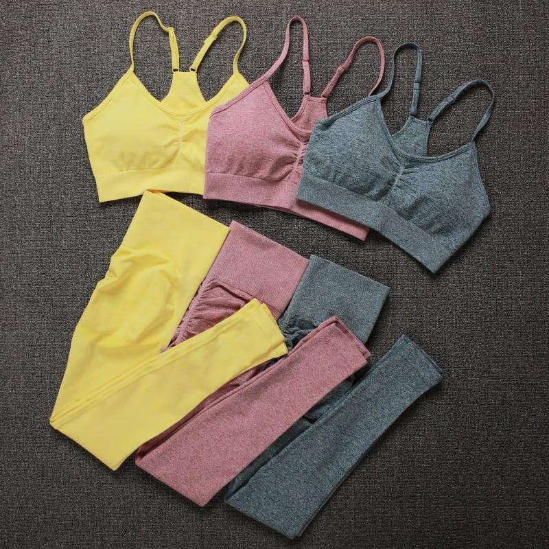 Royles! Women 2 Piece Workout Outfits Sports Bra Seamless Leggings Yoga Gym Activewear Set 34