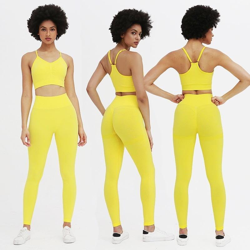 Royles! Women 2 Piece Workout Outfits Sports Bra Seamless Leggings Yoga Gym Activewear Set 22