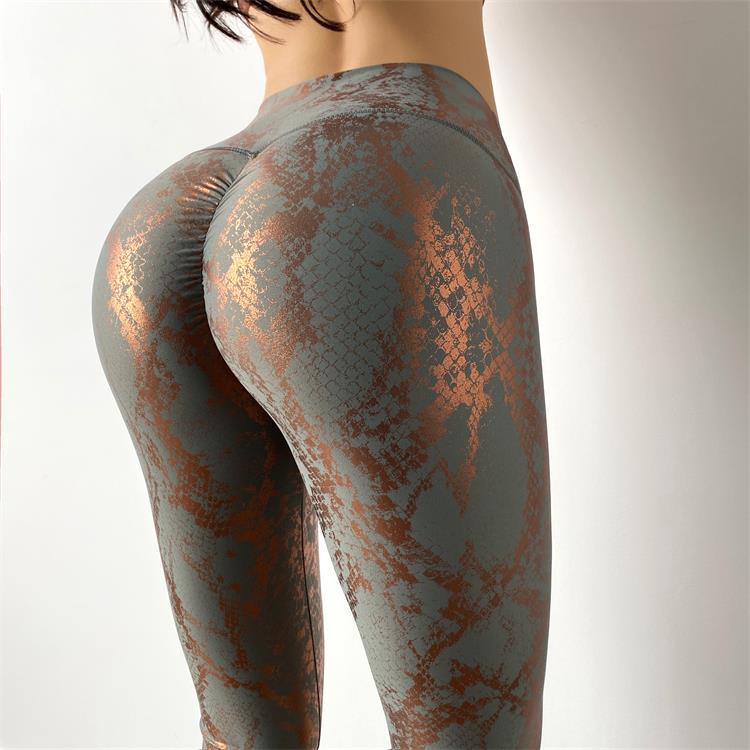 Women Serpentine High Waist Yoga Pants Leggings 3
