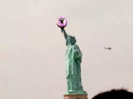 Pink donuts — more guerilla marketing? IDTS