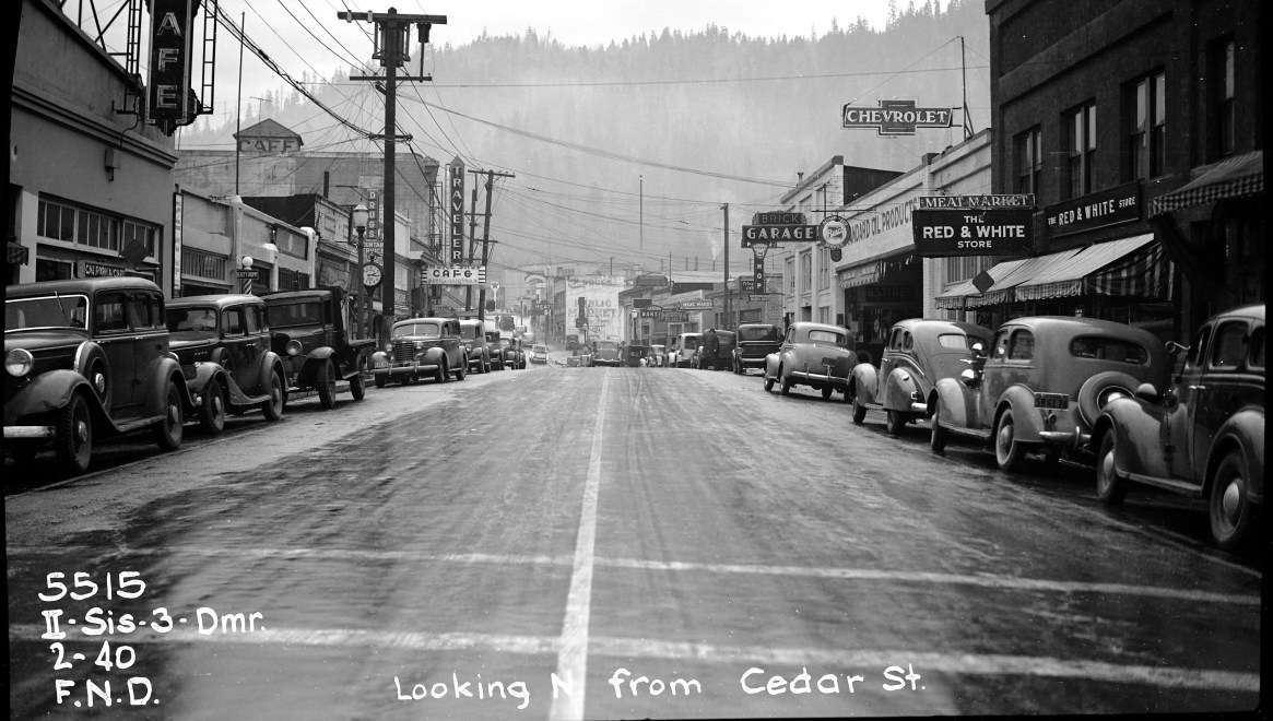 BW Caltrans District 2 Siskiyou County Dunsmuir, Cedar Street 1940's