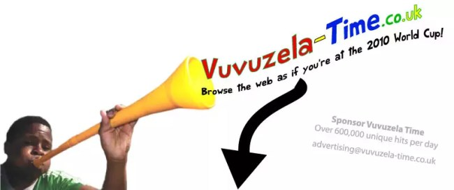 Vuvuzela any website!