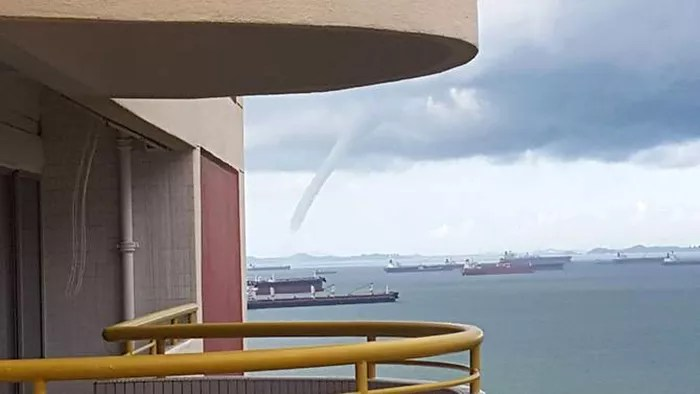 Large Waterspout off Singapore