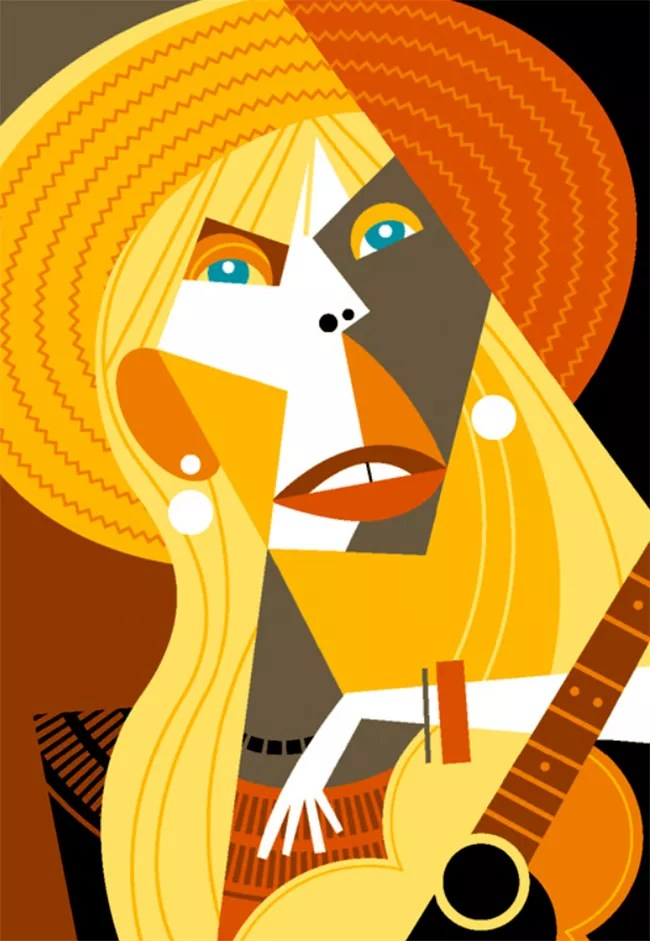 Happy 75th Joni Mitchell ~ Random Collection of Caricatures
