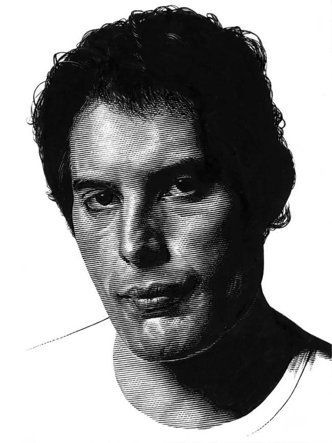 Leib Chigrin – Scratchboard Art – Freddy Mercury