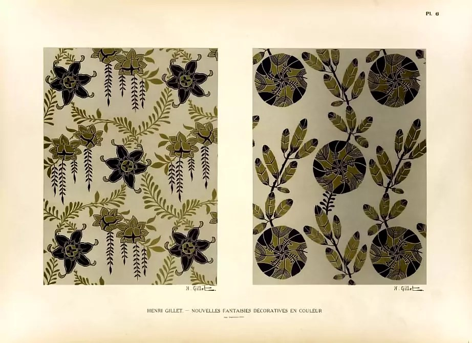 Plate 6  |  Floral  |  Henri Gillet  c.1900