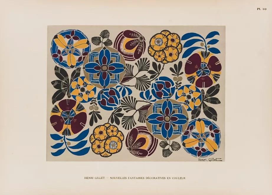 Plate 10  |  Floral  |  Henri Gillet  c.1900