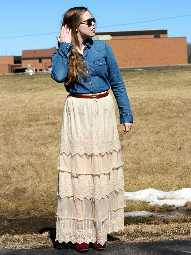 chambray-top-lace-skirt