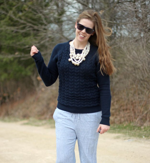 blue-sweater-blue-pinstripe-pants-pearls-3