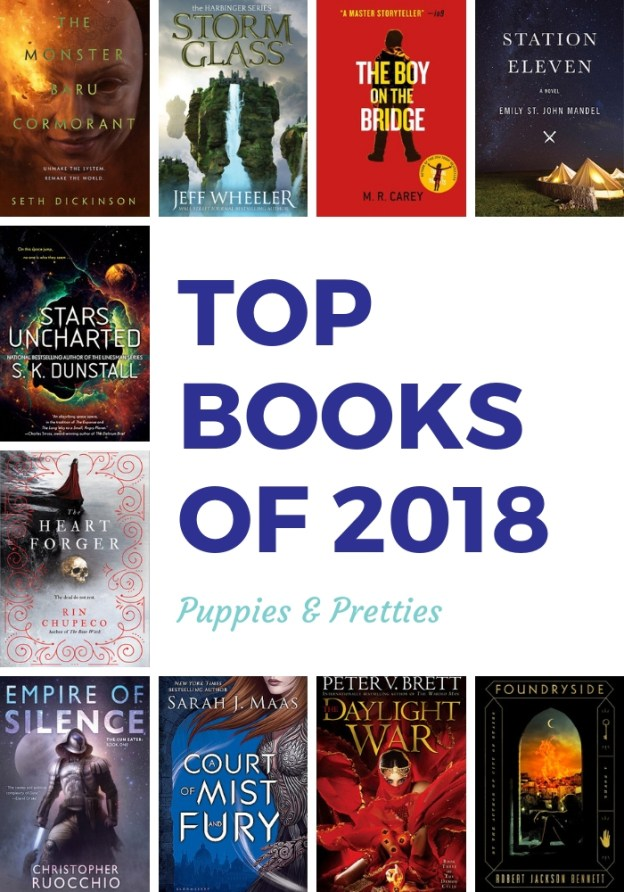 Top Books of 2018 from Puppies & Pretties | Check out my top books (mostly fantasy & science fiction)