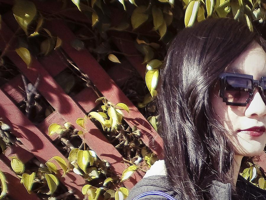 Close-up of geek sunglasses.