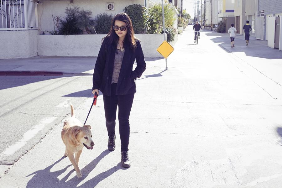 Deb walking Annabel.