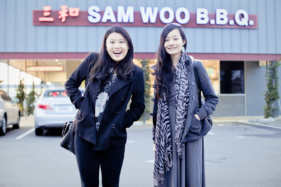 In front of Sam Woo BBQ in San Gabriel.