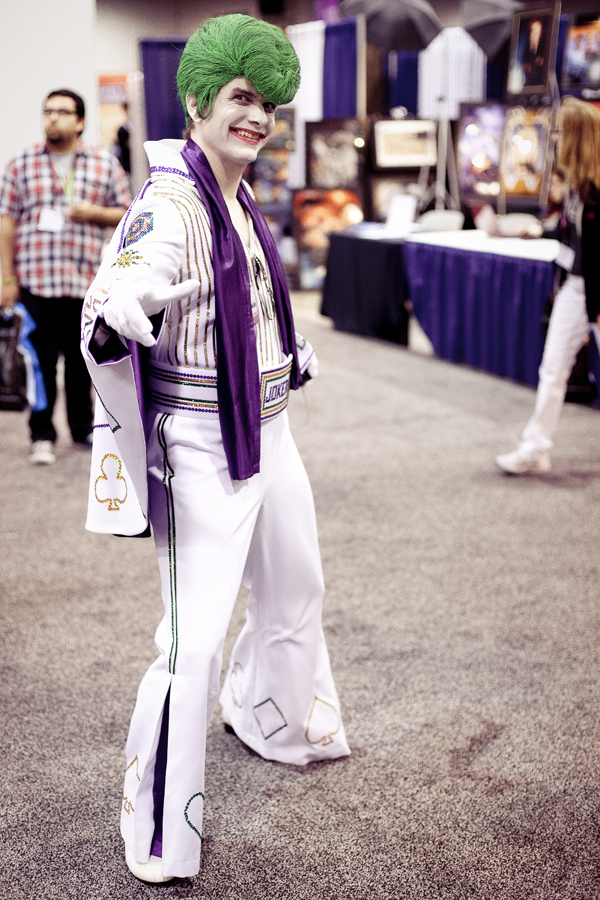 Joker Elvis cosplayer at Wondercon 2013.