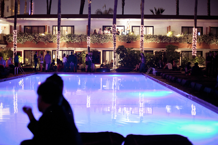 Pool in Hotel Roosevelt in Hollywood, Los Angeles, California.