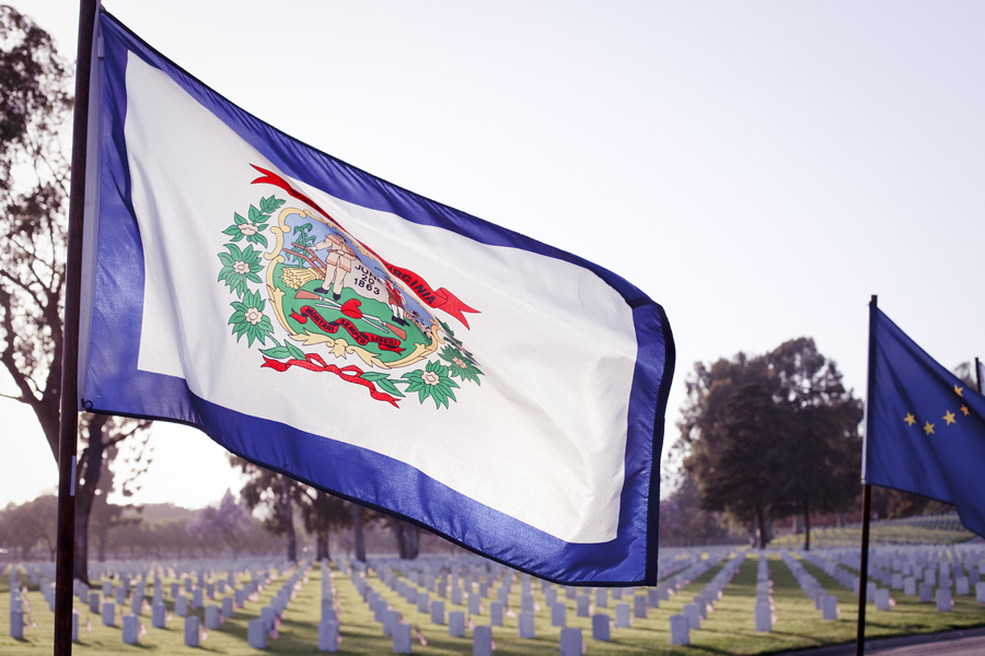 Flag at the Los Angeles National Cemetery.